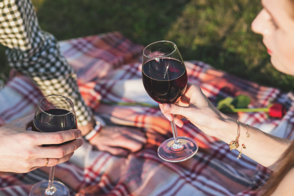 Wine with picnic